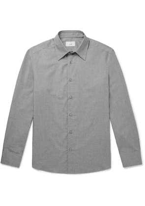 Dunhill - Cotton and Cashmere-Blend Shirt - Men - Gray