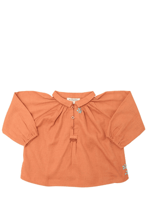 Embroidered Light Cotton Flannel Top