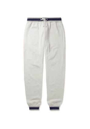 Kiton - Tapered Contrast-Tipped Cashmere Sweatpants - Men - Gray