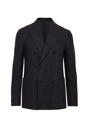 Lardini - Double-Breasted Wool-Blend Blazer - Men - Blue
