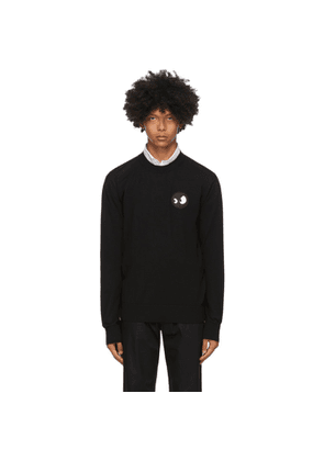 McQ Alexander McQueen Black McQ Swallow Monster Badge Crewneck Sweater