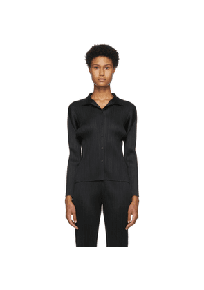 Pleats Please Issey Miyake Black Basics Shirt