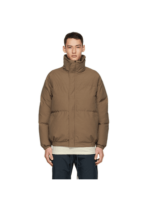 Essentials SSENSE Exclusive Brown Puffer Jacket