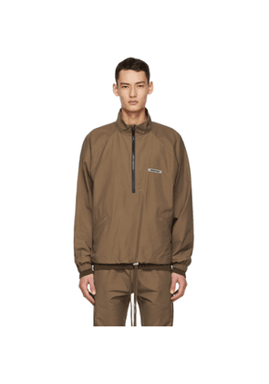 Essentials SSENSE Exclusive Brown Half-Zip Track Jacket