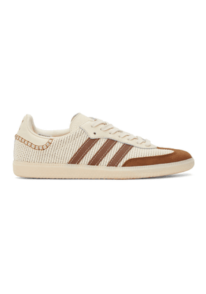 Wales Bonner Off-White and Brown adidas Originals Samba Sneakers