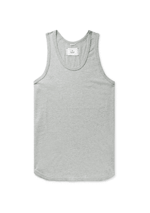 Reigning Champ - Melangé Pima Cotton-Jersey Tank Top - Men - Gray