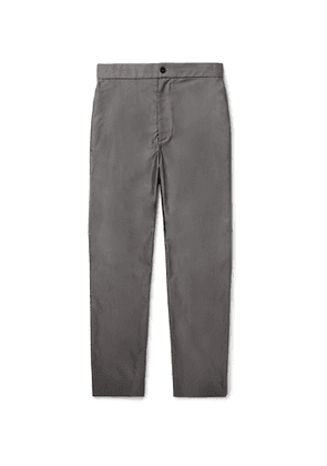 THE ROW - Grey LA Track Slim-Fit Tapered Cotton Trousers - Men - Gray