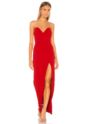 NBD Rockie Gown in Red. Size XS, S, L, XL.