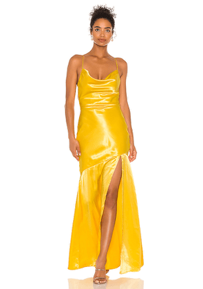 Lovers + Friends Dewey Gown in Yellow. Size XS, S, M, L, XL.
