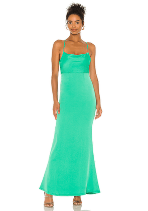 NBD Pacey Gown in Green. Size XS, S, M, L, XL.