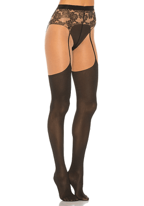 Wolford Andy Tights in Black. Size L.