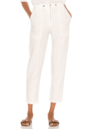 APIECE APART Silvie Jump Pant in White. Size 6.