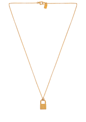Electric Picks Jewelry Love Letter Initial Necklace in Metallic Gold. Size A, E, F, H, I, J, L, M, N, O, P, S, V.
