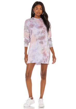 Tularosa Talia Sweatshirt Dress in Mauve. Size S.