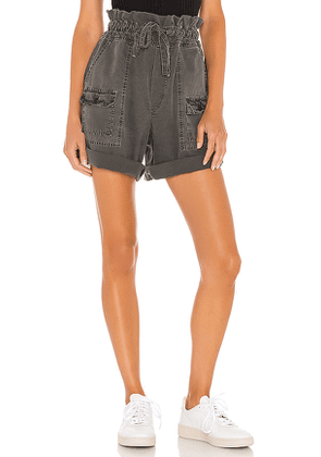 NSF Troy High Waist Short in Charcoal. Size S, M, L.