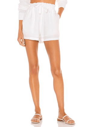 Seafolly Linen Blend Short in White. Size S, M, L.