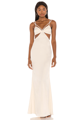 Camila Coelho Faron Gown in Cream. Size L.
