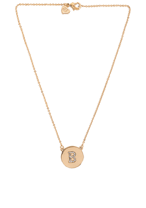 Frasier Sterling Initial Coin Necklace in Metallic Gold. Size B, C, E, G, H, J, K, L, N, R, S.