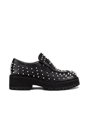 Steve Madden Malvern Studded Loafer in Black. Size 6, 6.5.