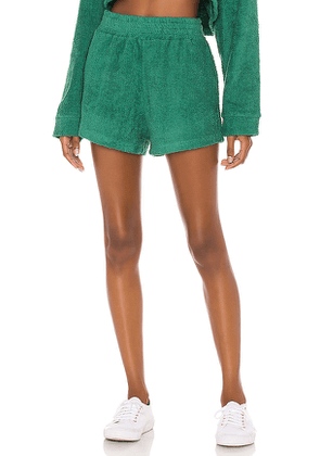 The Bar Zi Short in Teal. Size S, M, L.
