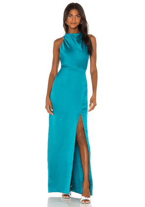 Parker Black Yara Dress in Teal. Size 0, 2, 4, 6.