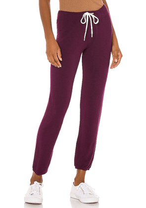 MONROW Supersoft Vintage Sweats in Wine. Size XS, M, L.