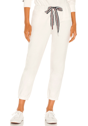THE UPSIDE Captain Track Pant in White. Size XS, S, L.