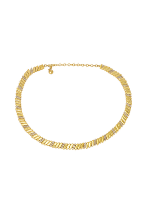 BaubleBar Pave & Gold Collar Necklace in Metallic Gold.