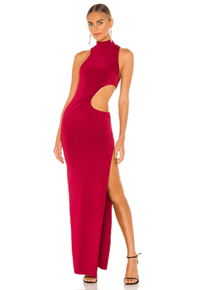 h:ours Ryker Gown in Red. Size S, M, L, XL.