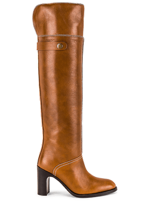 See By Chloe Liz Tall Boot in Brown. Size 36, 37, 37.5, 38, 38.5, 40.