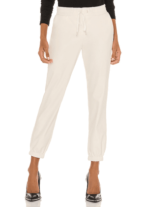 n:philanthropy Scarlett Leather Jogger in White. Size S, M, L.