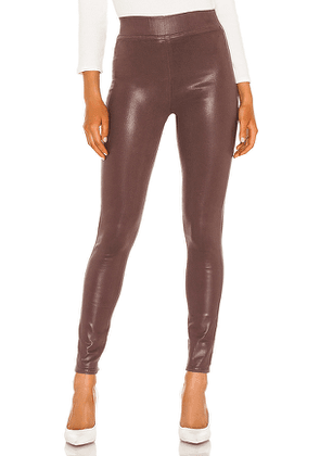 L'AGENCE Rochelle High Rise Pull On Pant in Burgundy. Size S, M, L.