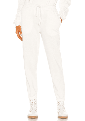 Richer Poorer Recycled Fleece Sweatpant in Cream. Size S, M, L.