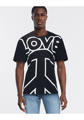 Love Moschino love logo t-shirt-Black