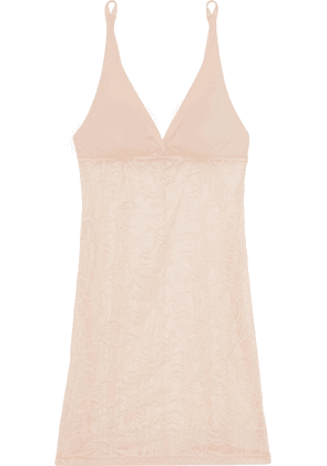 Cosabella Evolved Jersey-paneled Stretch-lace Chemise Woman Neutral Size M