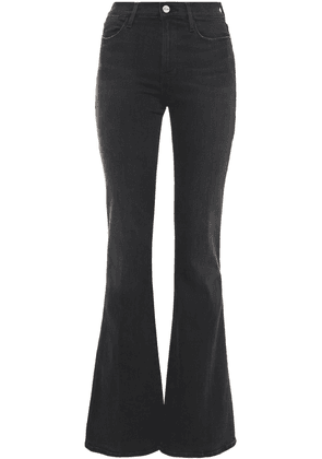 Frame Le High Flare High-rise Flared Jeans Woman Black Size 32
