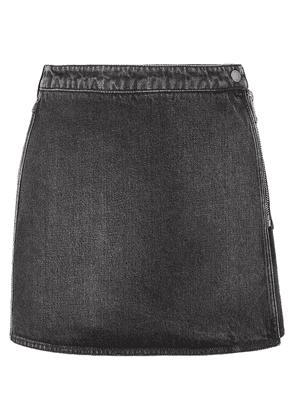 Givenchy Denim Mini Skirt Woman Black Size 42