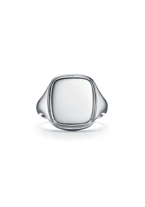Square signet ring in sterling silver, 18 mm wide - Size 10