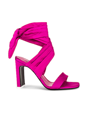 ATTICO Satin Lace Up Sandal in Fuchsia - Pink. Size 41 (also in 38).