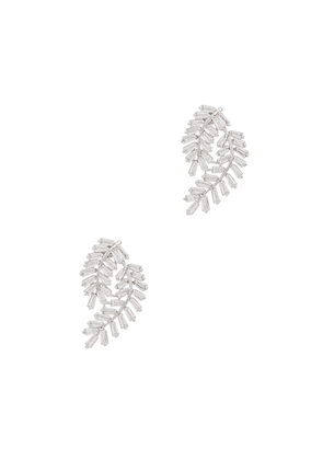 FALLON Deco Fern Crystal-embellished Earrings