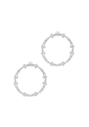 FALLON Jagged Edge Crystal-embellished Hoop Earrings
