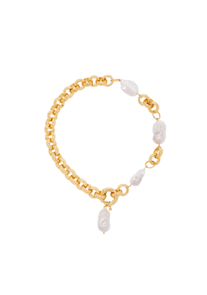 Timeless Pearly Baroque 24kt Gold-plated Necklace