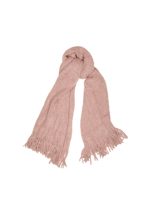 Free People Whisper Dusky Pink Textured-knit Scarf