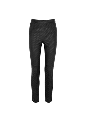 Givenchy Black Embossed Leather Leggings