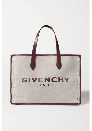 Givenchy - Cabas Medium Leather-trimmed Printed Canvas Tote - Merlot