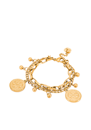 BRACHA All Saints Bracelet in Metallic Gold.