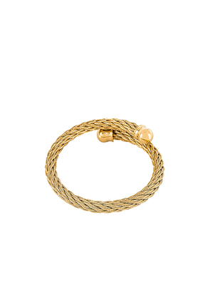 Ellie Vail Anya Wire Bracelet in Metallic Gold.
