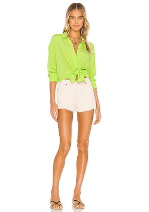 Lovers + Friends Strand Shirt in Green. Size S.