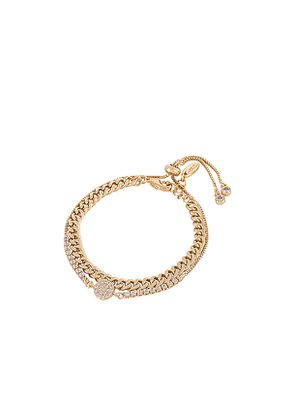 Ettika Crystal & Chain Bracelet Set in Metallic Gold.
