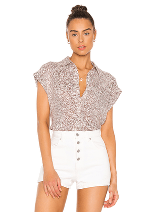 Rails Whitney Button Down Top in Brown. Size XS, S, L.